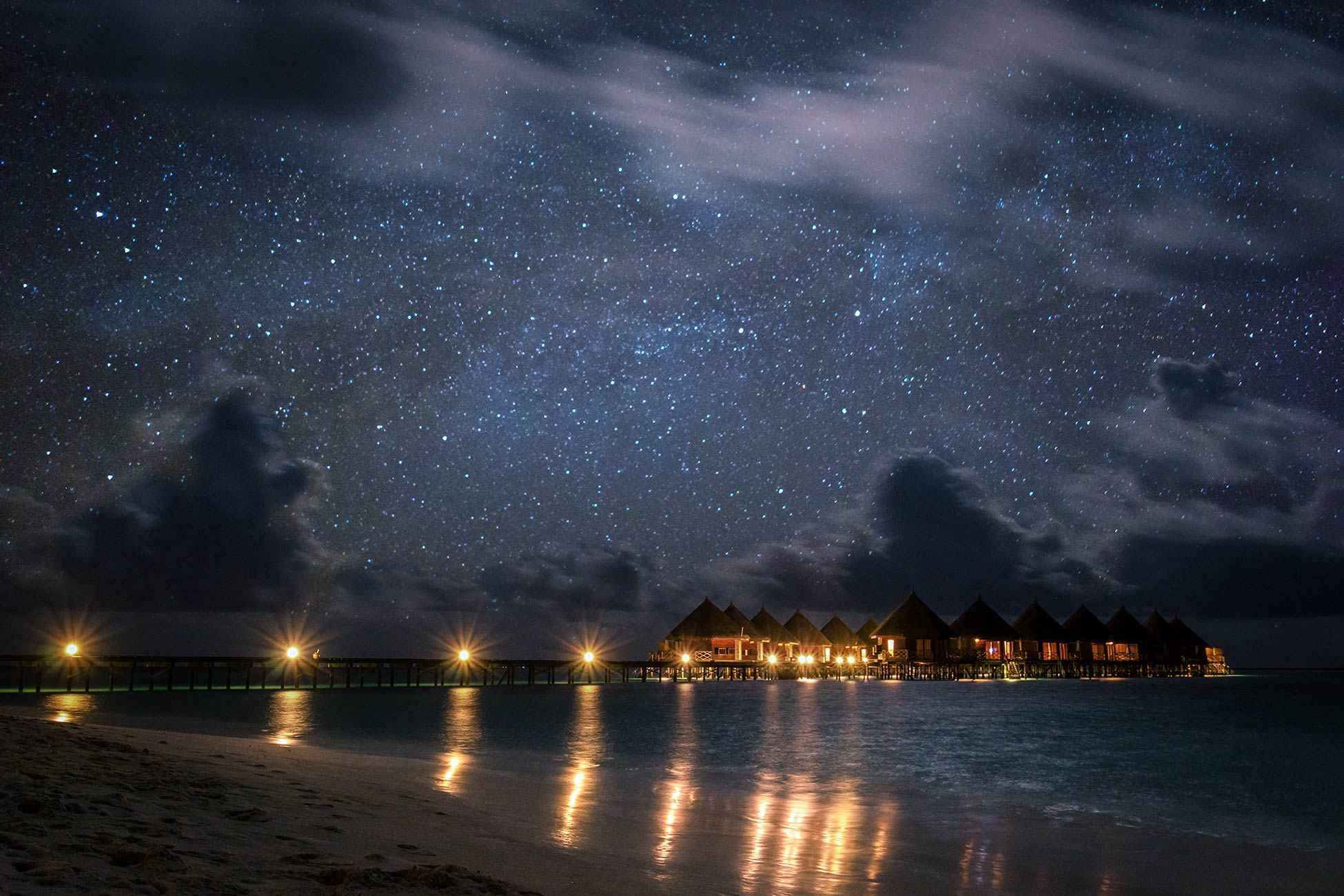 Sternenhimmel auf den Malediven