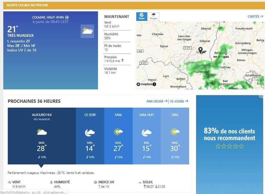 appli et site meteo accu weather comparatif