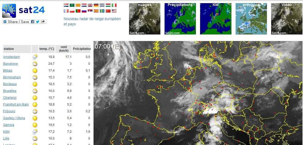 image satellite aide prevision meteo