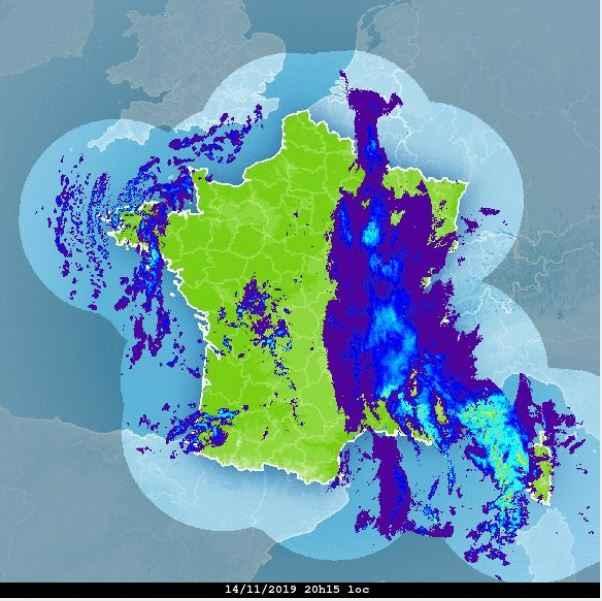 pluie radar mauvais temps front